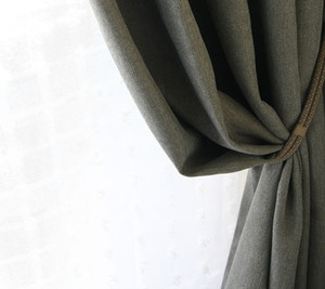 KHAKI GRAY CURTAIN