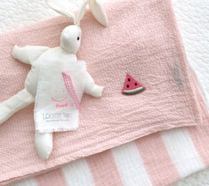 CHECK RIPPLE BLANKET(pink)