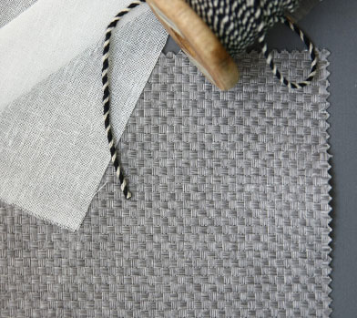 WARM GRAY SQUARE WEAVE CURTAIN(암막커튼)