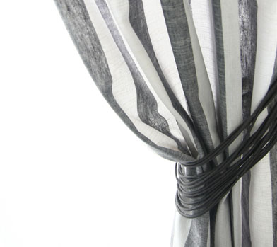 GRAY STRIPE CURTAIN